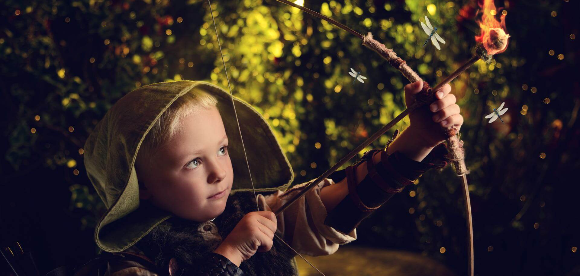 Our Woodland theme is ideal for Robin Hood and The Hunger Games shoots